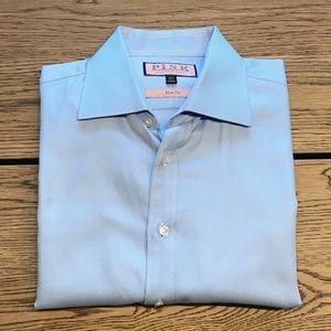 Thomas PINK Men's Slim-Fit Button-Down Dress Shirt